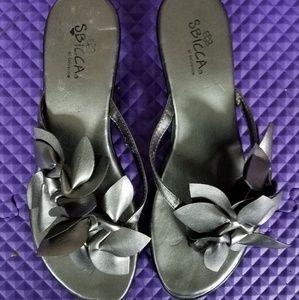 Sbicca silver sandals